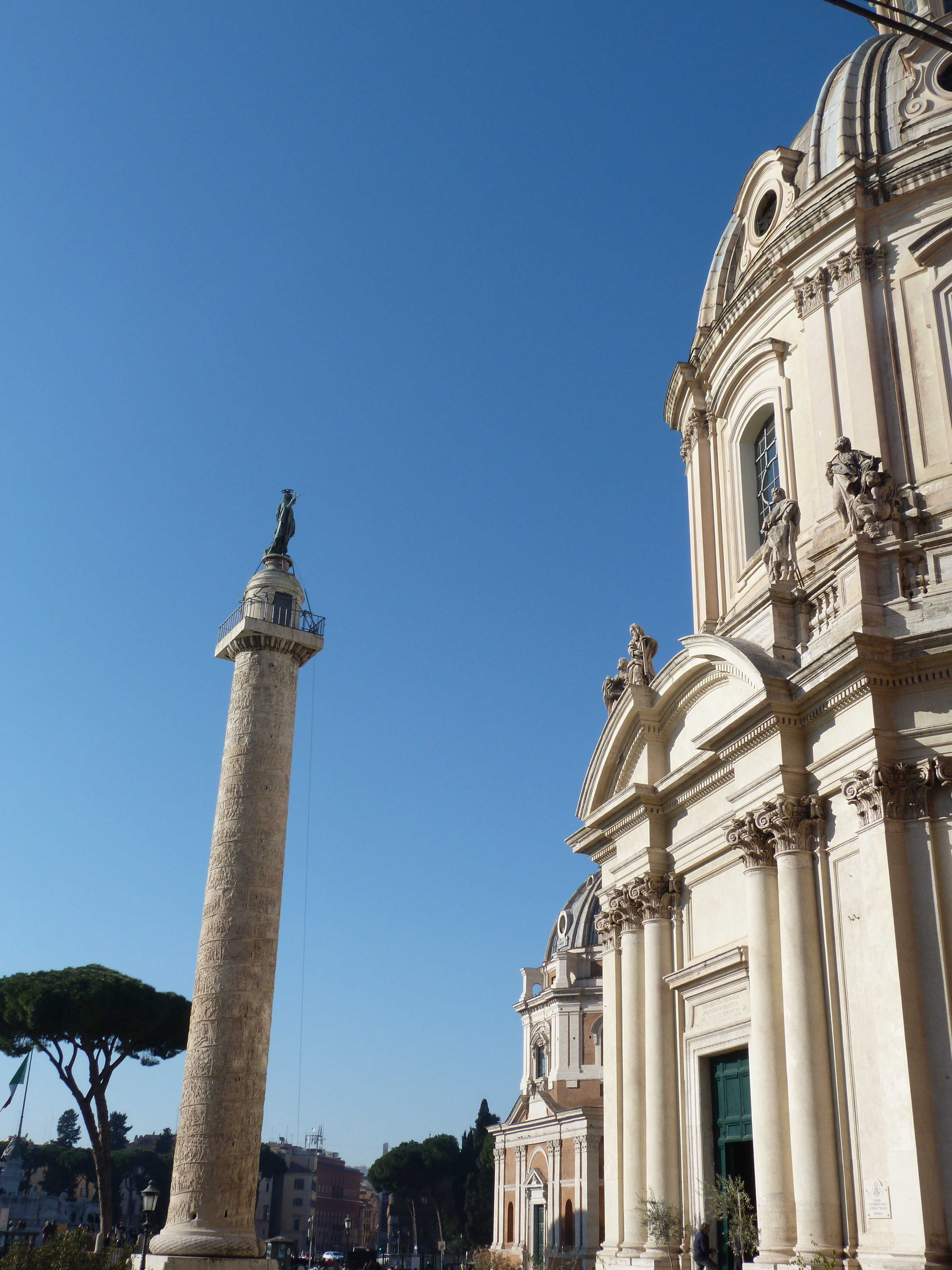 Colonna Traiana roma point of view