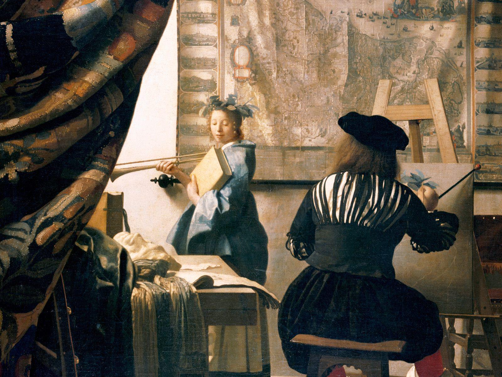 Risultato immagini per Allegoria della pittura vermeer